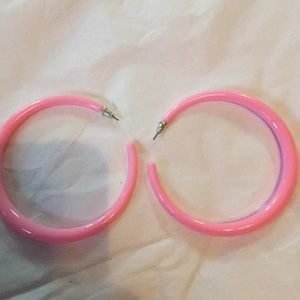 Jewelry - Vtg 80's pink earrings